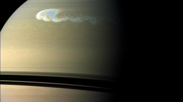tempête de Saturne