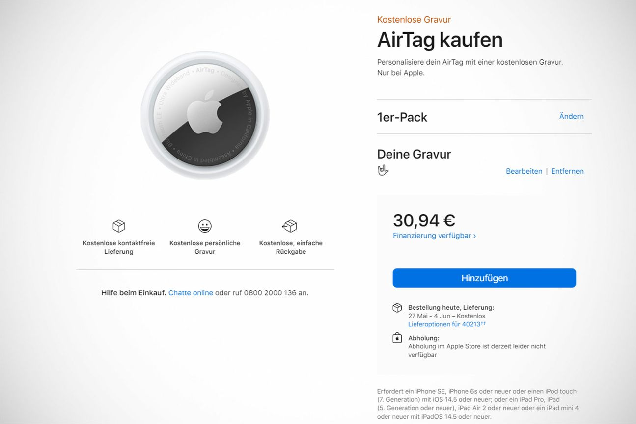 Boutique Apple AirTag
