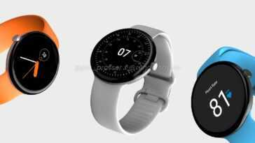 Conception de la Google Pixel Watch