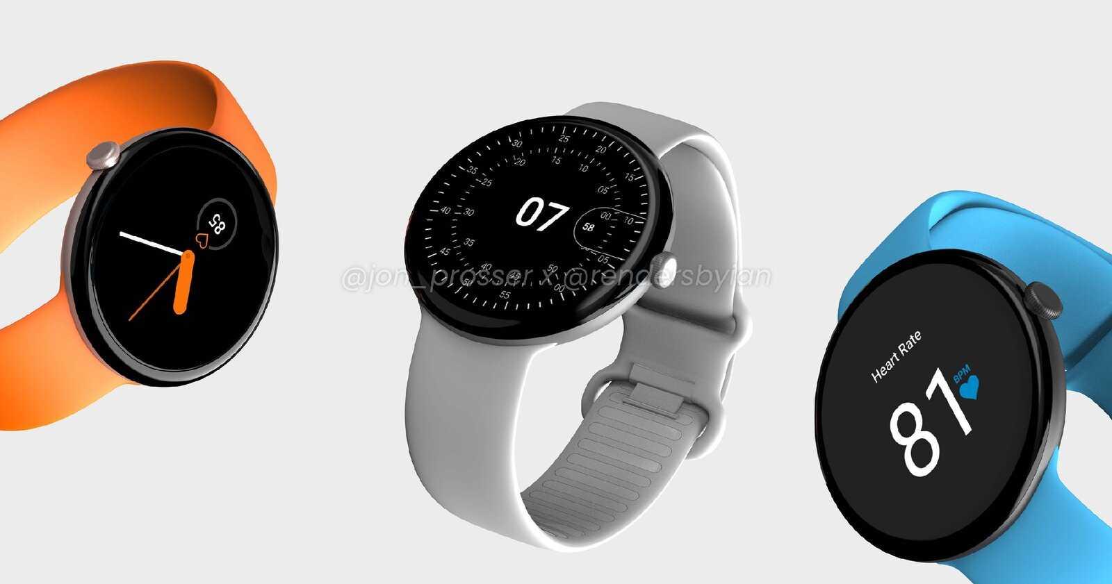 Conception de la Google Pixel Watch