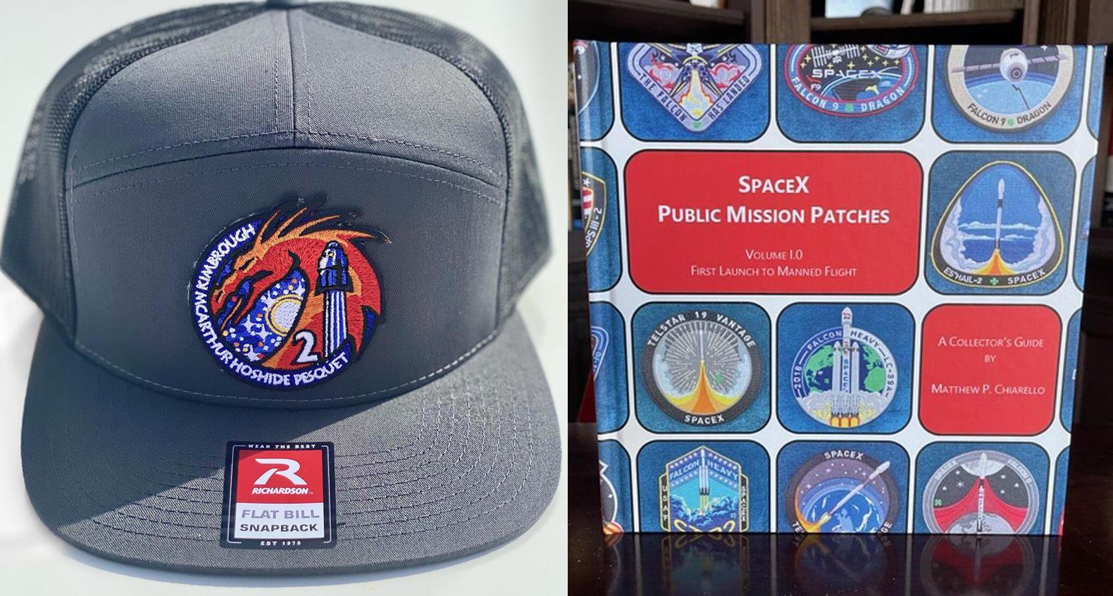 Participez pour gagner un guide de collectionneur de casquettes et d'écussons de mission Spacex Crew-2 dans notre dernier cadeau avec The Space Store!