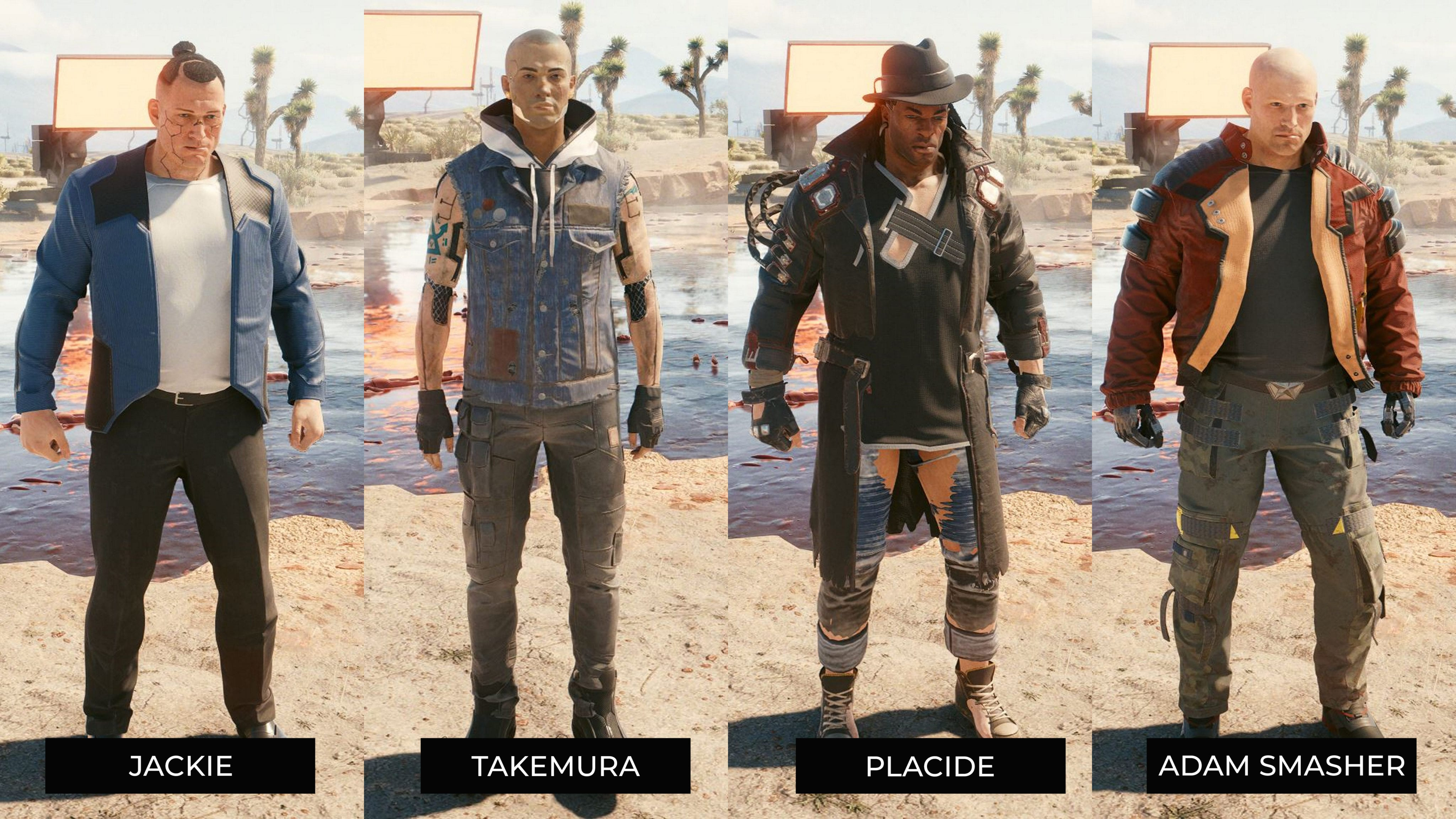 Personnages Cyberpunk 2077