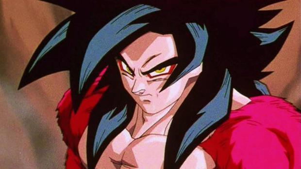"""Goku sous sa forme Super Saiyan 4 dans """"Dragon Ball GT"""" (Photo: Toei Animation)"""