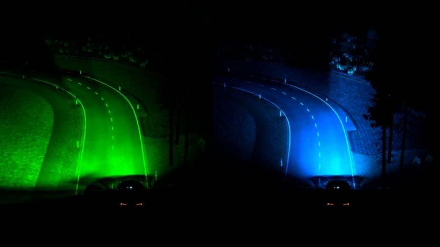 Les phares de virage améliorés offriront aux conducteurs un moment de visibilité supplémentaire dans un virage.  Image: Ford