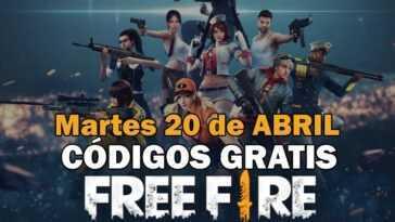 Free Fire Codigos Martes 20 Abril.jpg