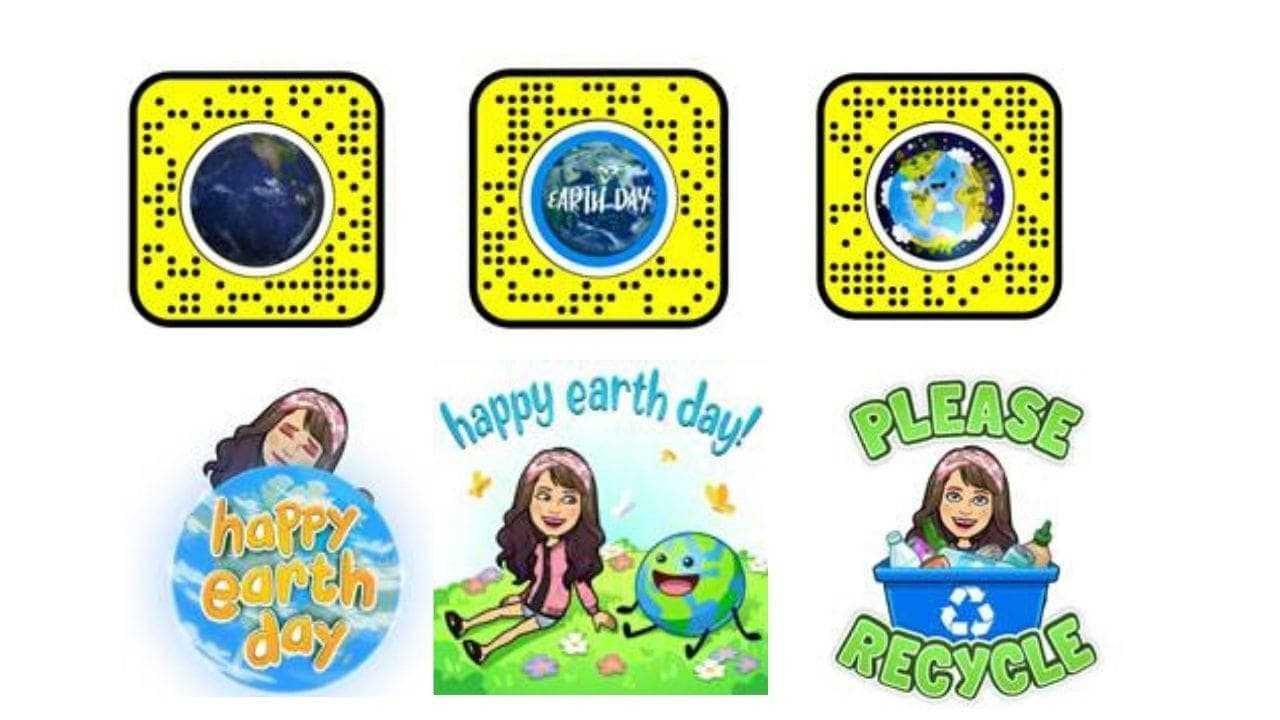 Autocollants Snapchat Earth Day et lentilles AR