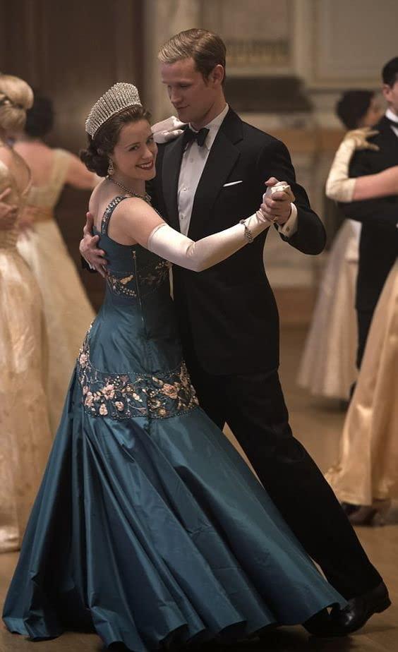 Isabel et Felipe en vedette dans The Crown.  Photo: (IMDB)