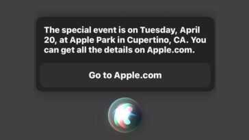 Le Prochain événement Apple Est Le 20 Avril (siri Le