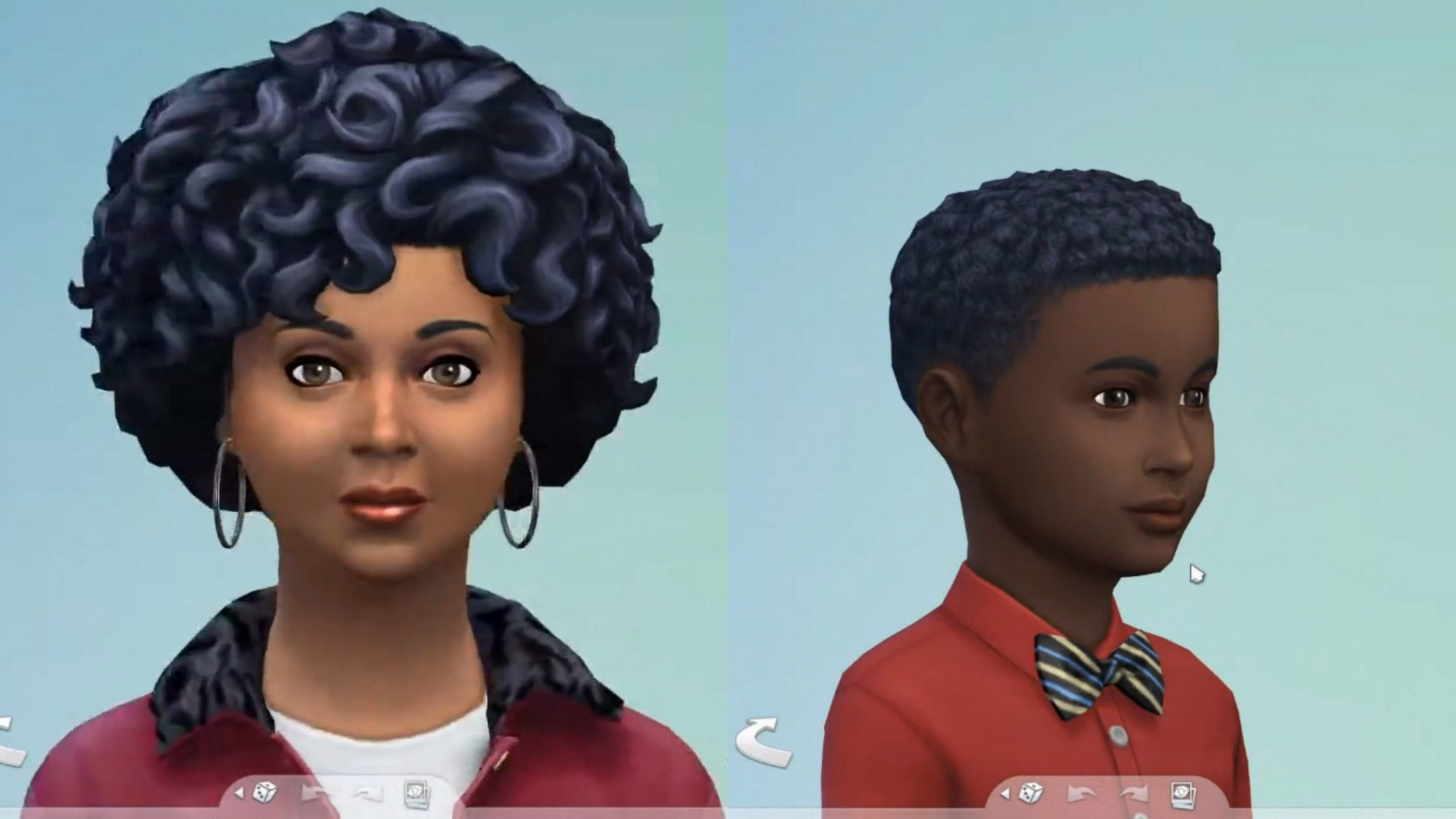 Sims 4 coiffures afro