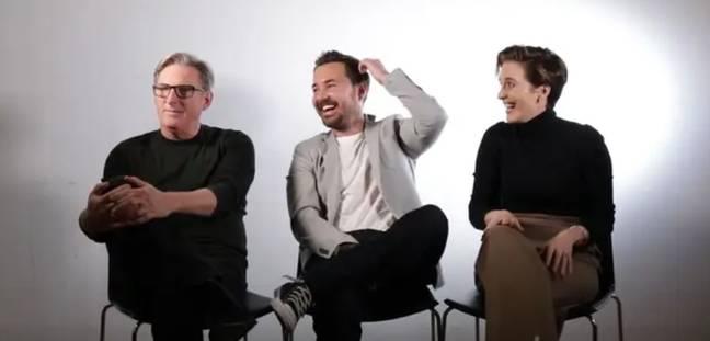 (De gauche à droite) Adrian Dunbar, Martin Compston et Vicky McClure.  Crédits: LADbible