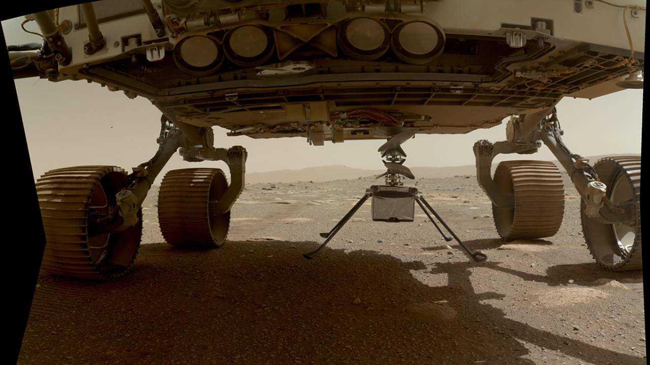 L'hélicoptère Ingenuity de la NASA passe sa première nuit dans des températures martiennes glaciales