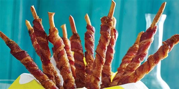 Gressins confits au bacon ou grissini