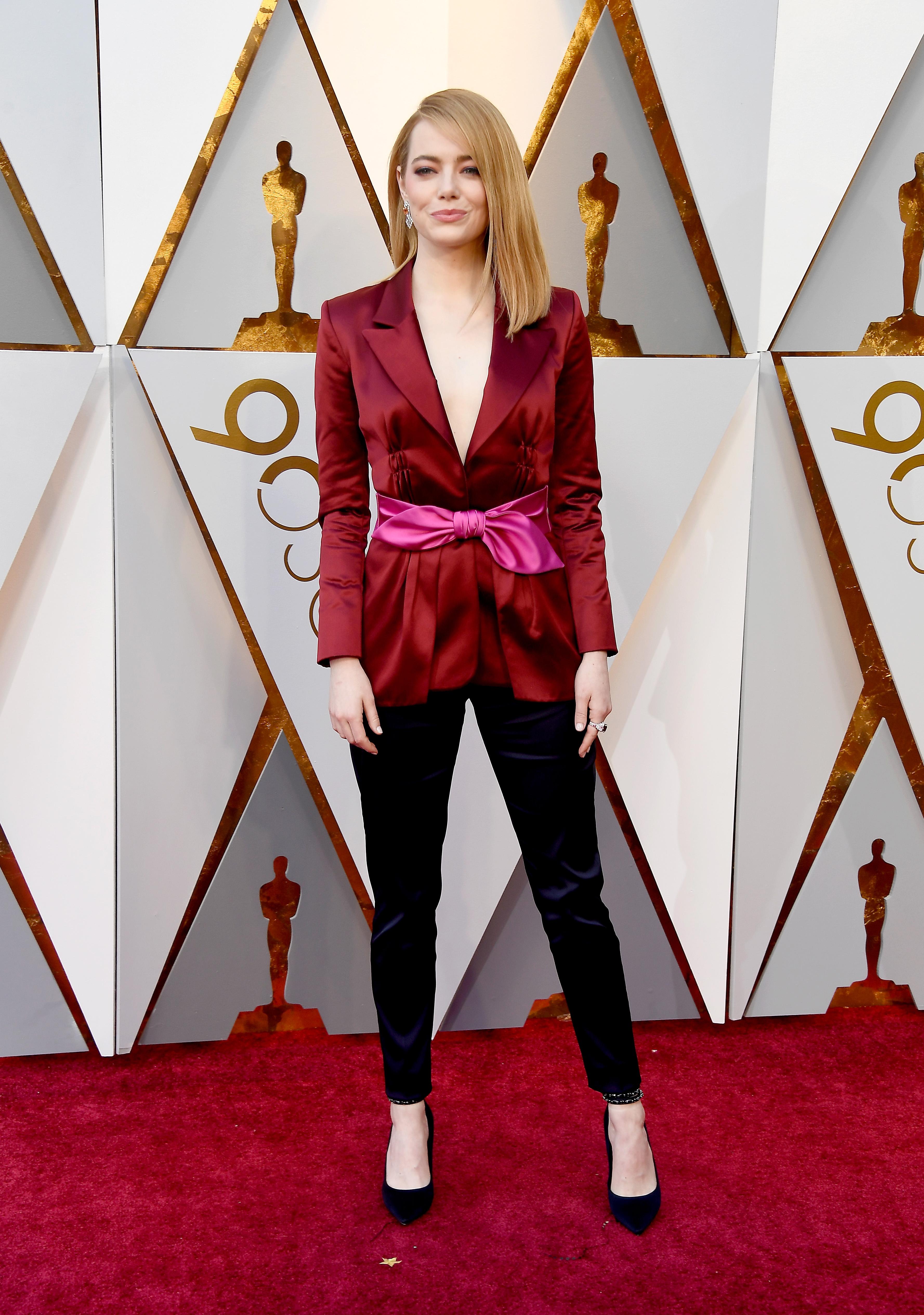 Emma Stone aux Oscars 2018. Photo: (Getty)