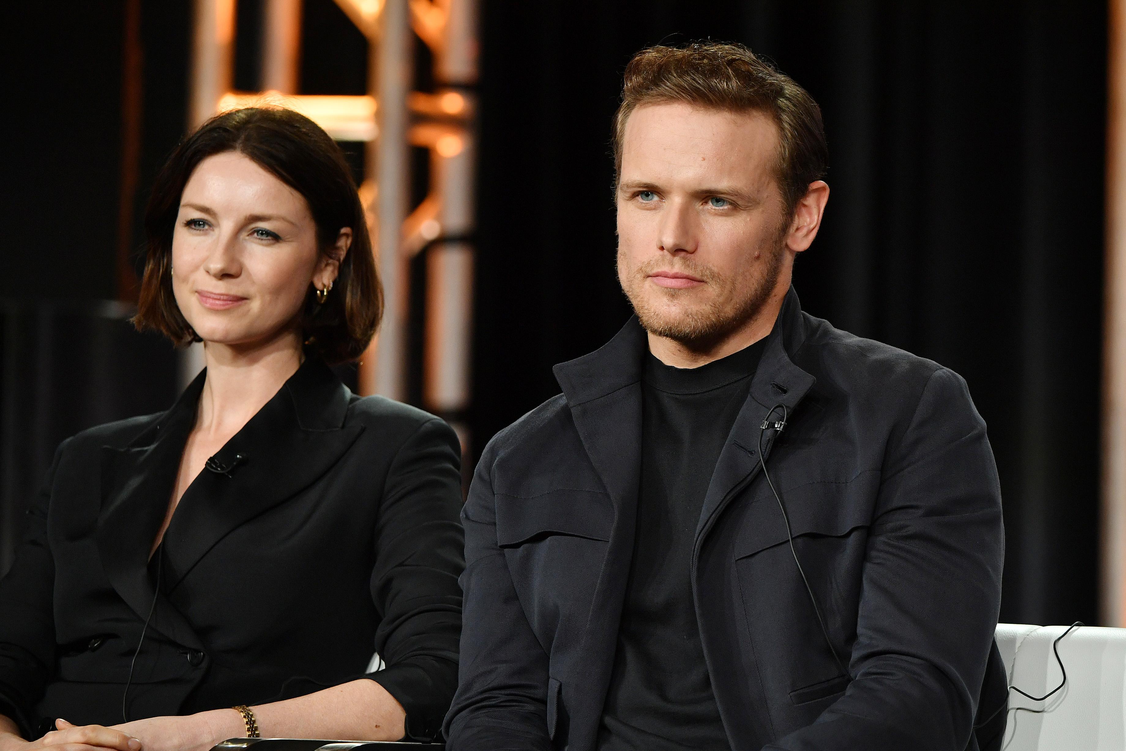 Sam Heughan et Catriona Balfe ont tous deux acquis une renommée internationale avec Outlander.  Photo: (Getty)