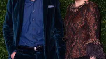 Helen McCrory avec son mari Damian Lewis.  Crédit: PA