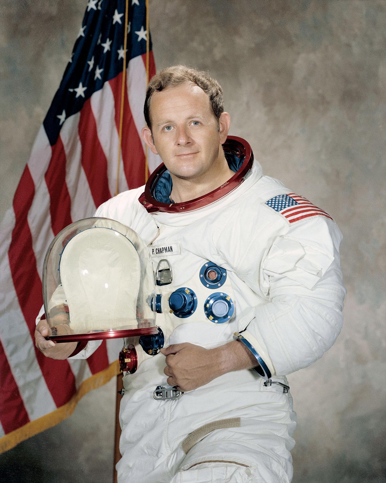 Portrait officiel de 1971 de l'astronaute de la NASA Philip Chapman.
