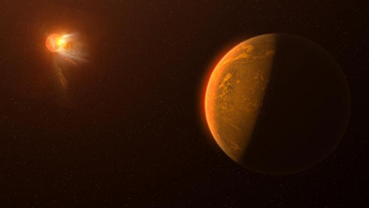 Conception artistique d'une fusée stellaire vue de la planète Proxima Centauri b, un monde potentiellement semblable à la Terre.