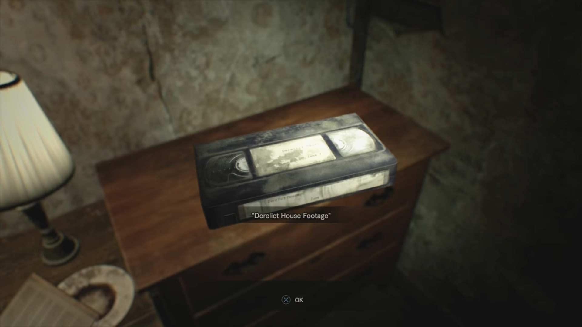 Emplacement de la cassette vidéo 1 - Resident Evil 7