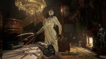 Resident Evil Village a Gyro visant sur PS5, mais il est cassé