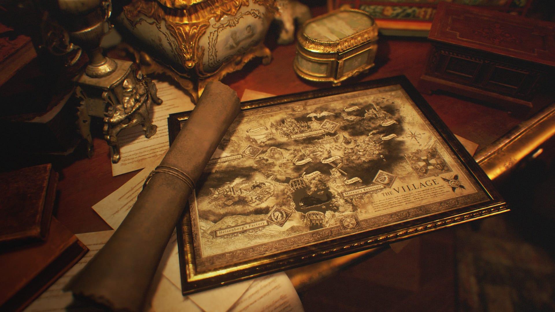 Carte du village de Resident Evil 8