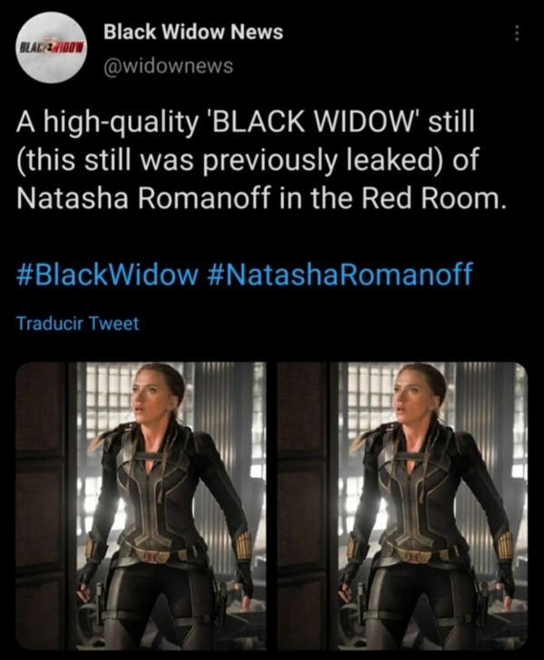 Le portail spécialisé dans Black Widow a été celui qui a publié l'image de Scarlett Johansson avec son changement de look.
