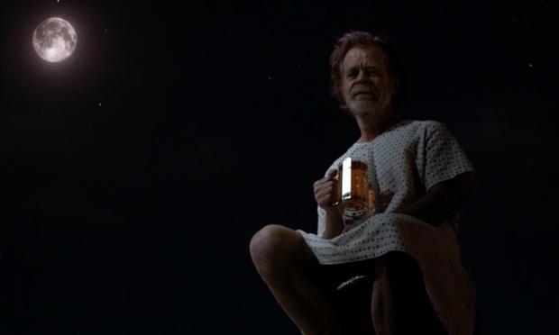 """Dernière scène de Frank Gallagher dans """"Shameless"""" (Photo: ShowTime)"""