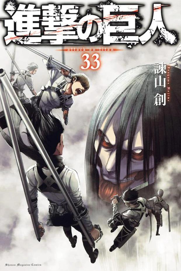 Après 12 ans de publication, le manga Attack on Titan touche à sa fin.  (Photo: bandes dessinées du magazine Shonen)