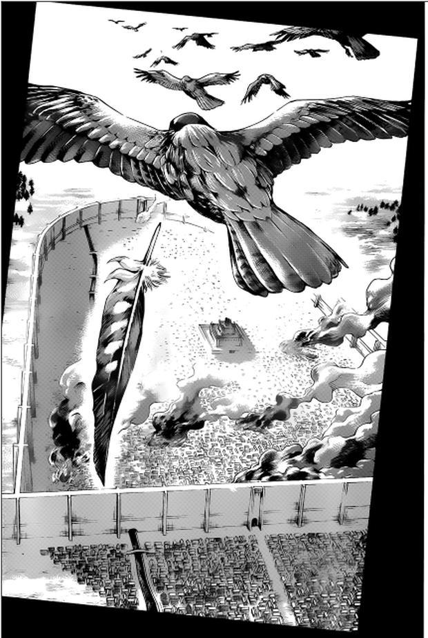 Il semble qu'Eren se soit réincarné dans l'oiseau Jaeger, qui porte le même nom (Photo: Kodansha)