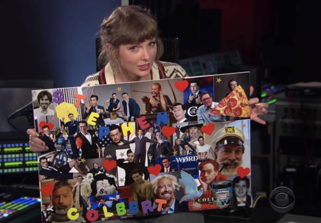 Le tableau d'humeur Stephen Colbert de Taylor Swift contient des œufs de Pâques 1989