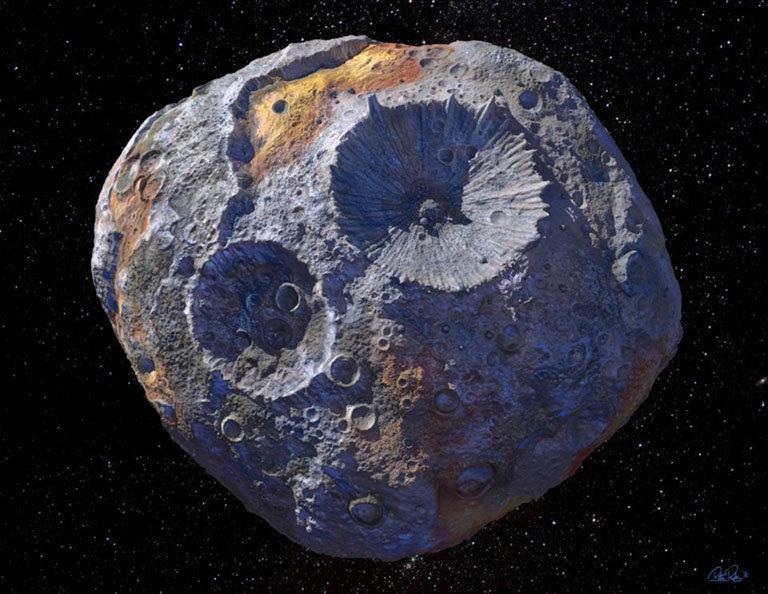 Représentation d'artiste de l'astéroïde Psyche, riche en métaux, qu'un vaisseau spatial de la NASA visitera plus tard cette décennie.
