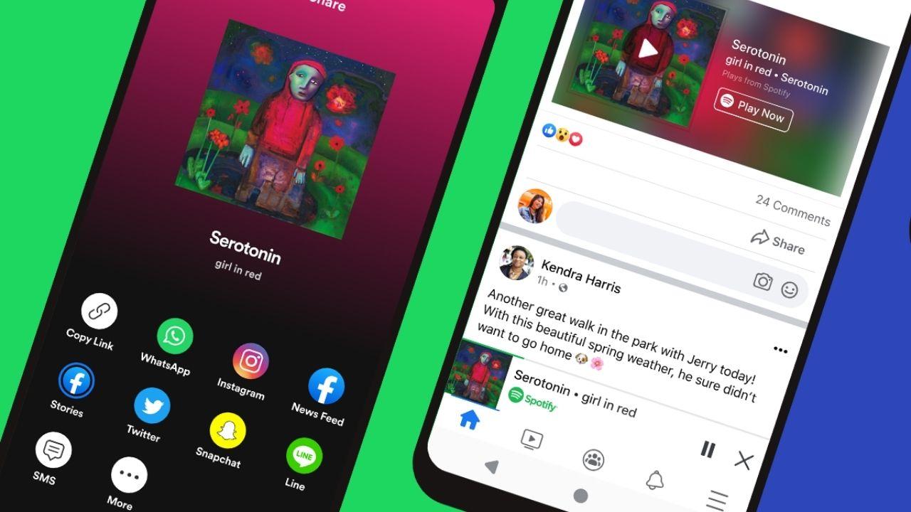 Les utilisateurs de Spotify Premium peuvent désormais accéder à leurs listes de lecture préférées depuis l'application Facebook.