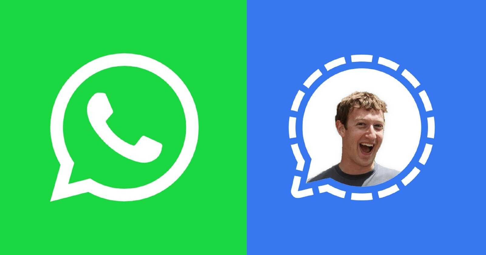 WhatsApp vs Signal avec Mark Zuckerberg