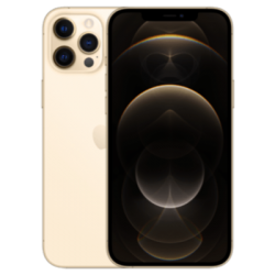 Vue avant de l'iPhone 12 Pro Gold 1