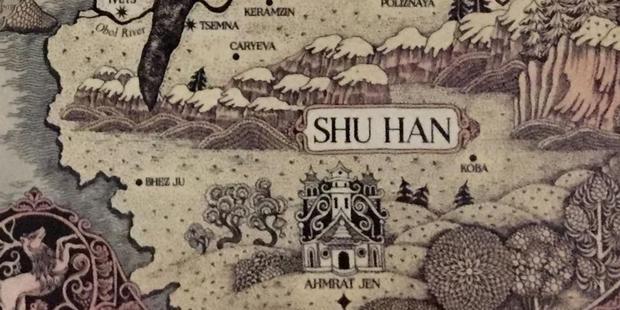 Localisation de Shu Han sur la carte Grishaverse.  (Photo: Leigh Bardugo)