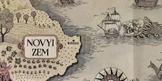 Localisation de Novyi Zem sur la carte de Grishaverse.  (Photo: Leigh Bardugo)
