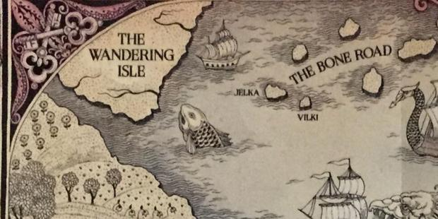 Localisation de l'île errante sur la carte de Grishaverse.  (Photo: Leigh Bardugo)