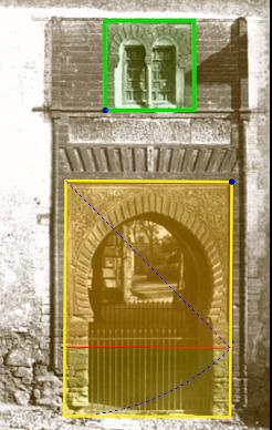 Image 3 20 La racine de proportion de deux dans la porte du vin