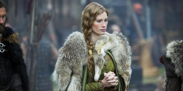 Aslaug pouvait et a eu de nombreux enfants une fois que Lagertha ne pouvait plus.  (Photo: Netflix)