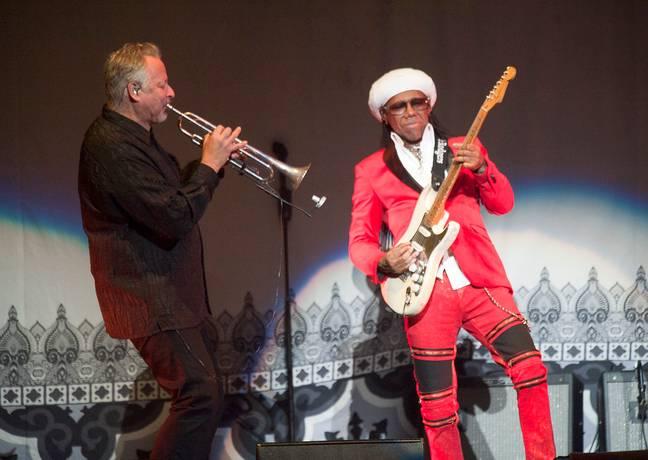 Nile Rodgers en concert avec CHIC en 2019. Crédit: PA