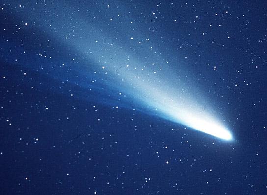 Une image de la comète de Halley prise en 1986.