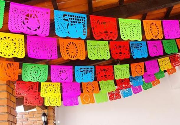 papel picado bannière bricolage décorations cinco de mayo
