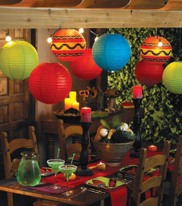 lanternes en papier bricolage décorations cinco de mayo