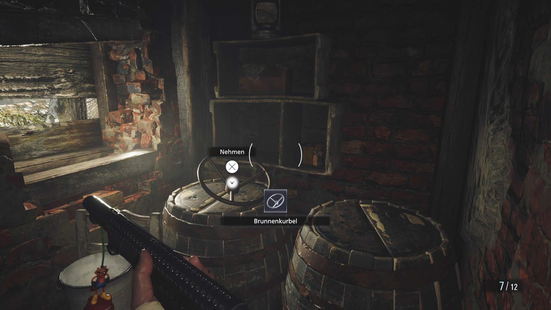 Emplacement de la manivelle du puits dans Resident Evil 8