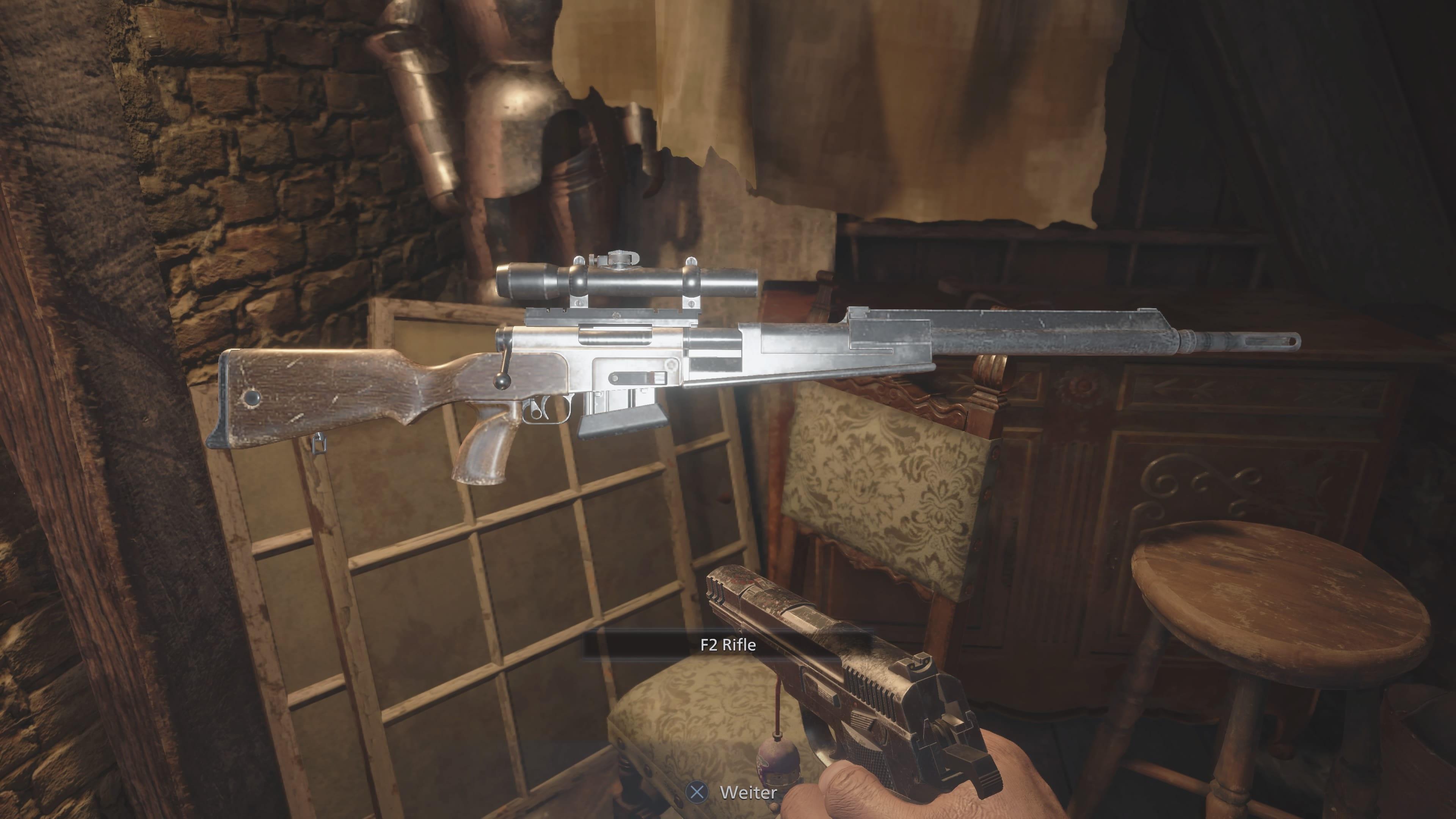 Resident Evil 8: Emplacement du fusil F2 (solution)