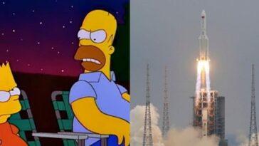 Incroyable: les Simpsons ont prédit la fusée chinoise et son issue