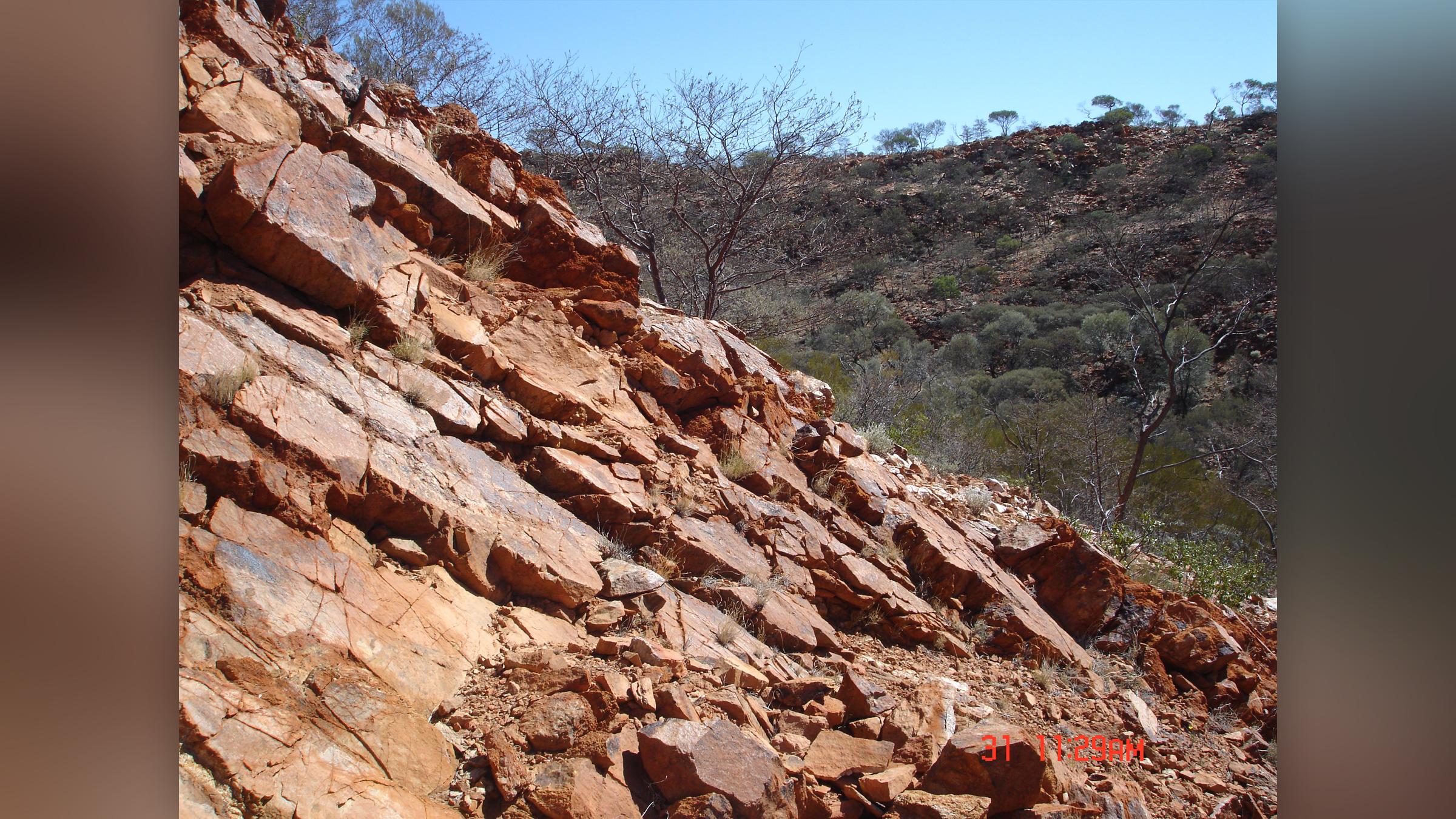 Les chercheurs ont prélevé 15 échantillons de roche de la taille d'un pamplemousse de Jack Hills.