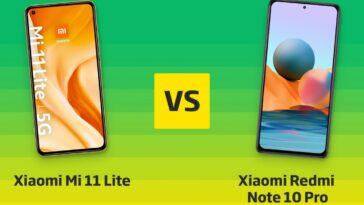 Xiaomi Mi 11 Lite Contre Redmi Note 10 Pro ⊂