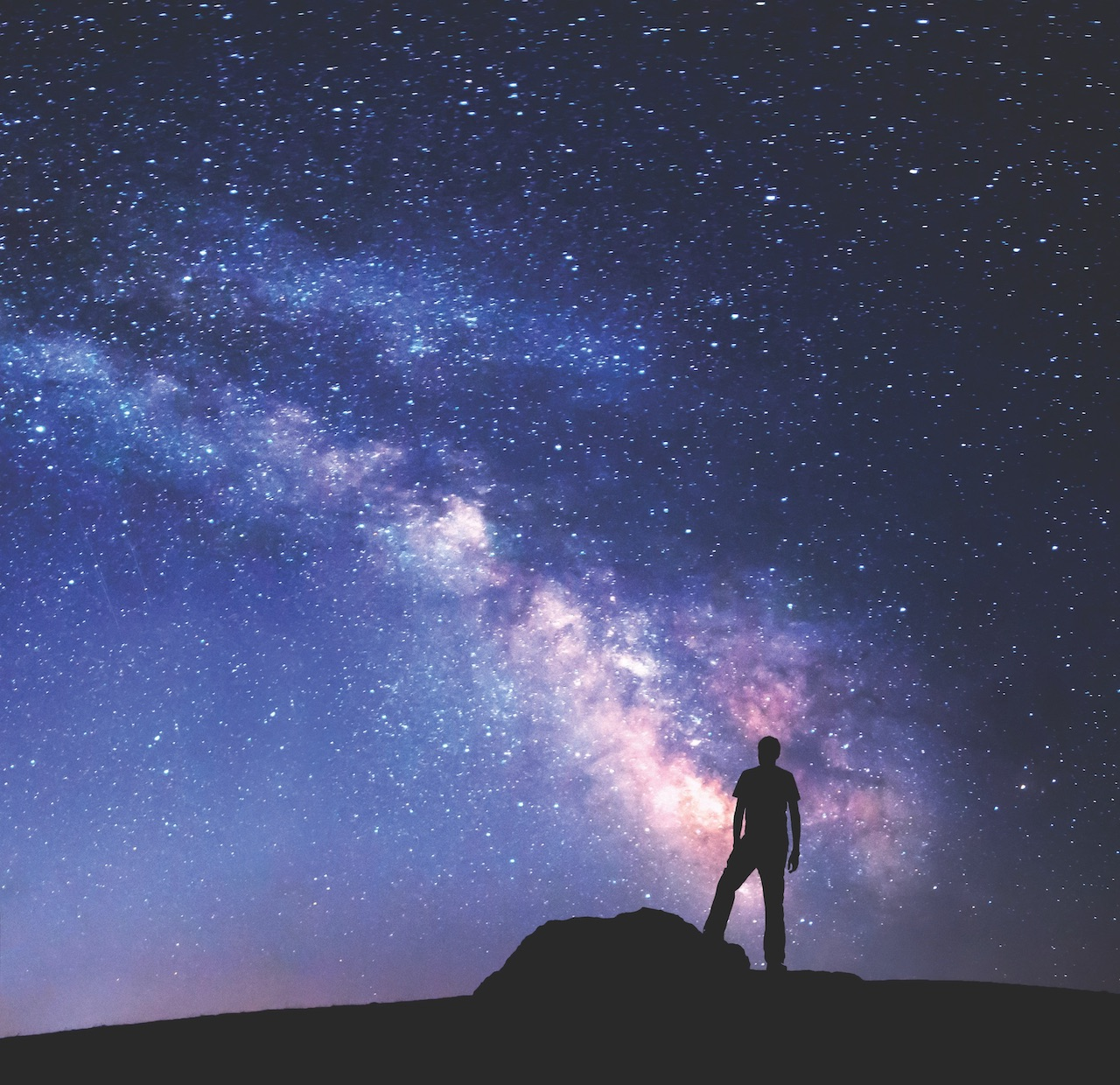 La Voie lactée vue de la Terre.