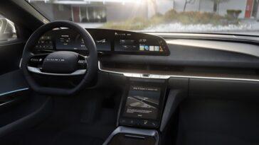 Lucid dispose d'un écran incurvé de 34 pouces époustouflant et d'une résolution 5K dans sa voiture électrique, la Lucid Air