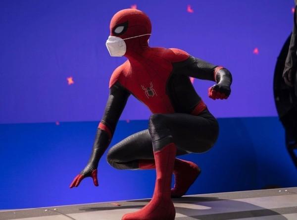 Tom Holland lors du dernier tournage de Spiderman.  Photo: (Tom Holland)